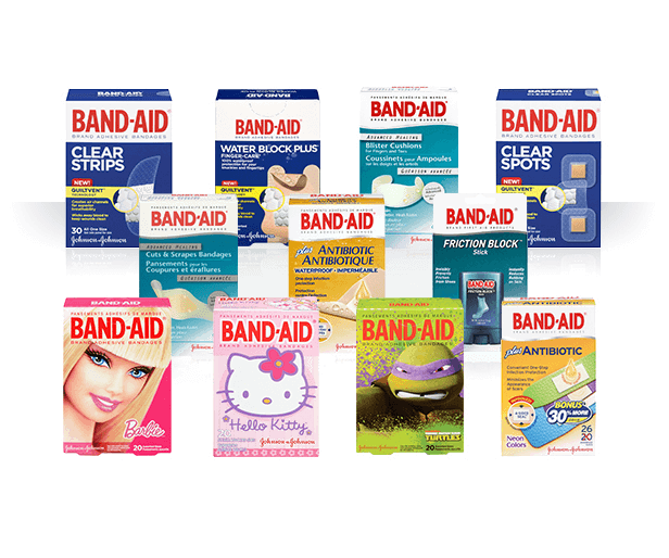 Band-Aid Products Transparent Header