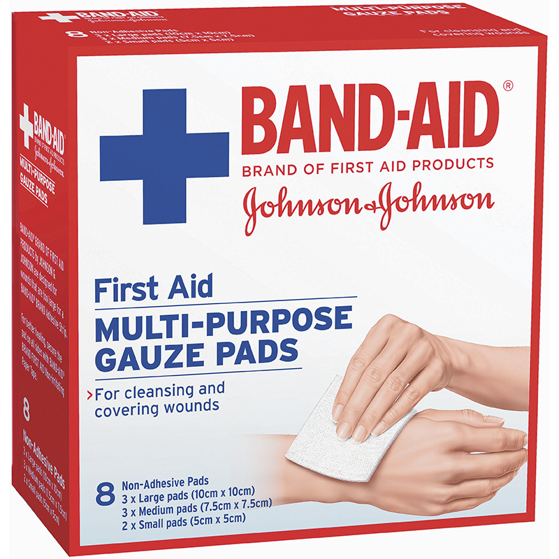 First Aid Gauze Pads 8 Band Aid Brand Of First Aid Products